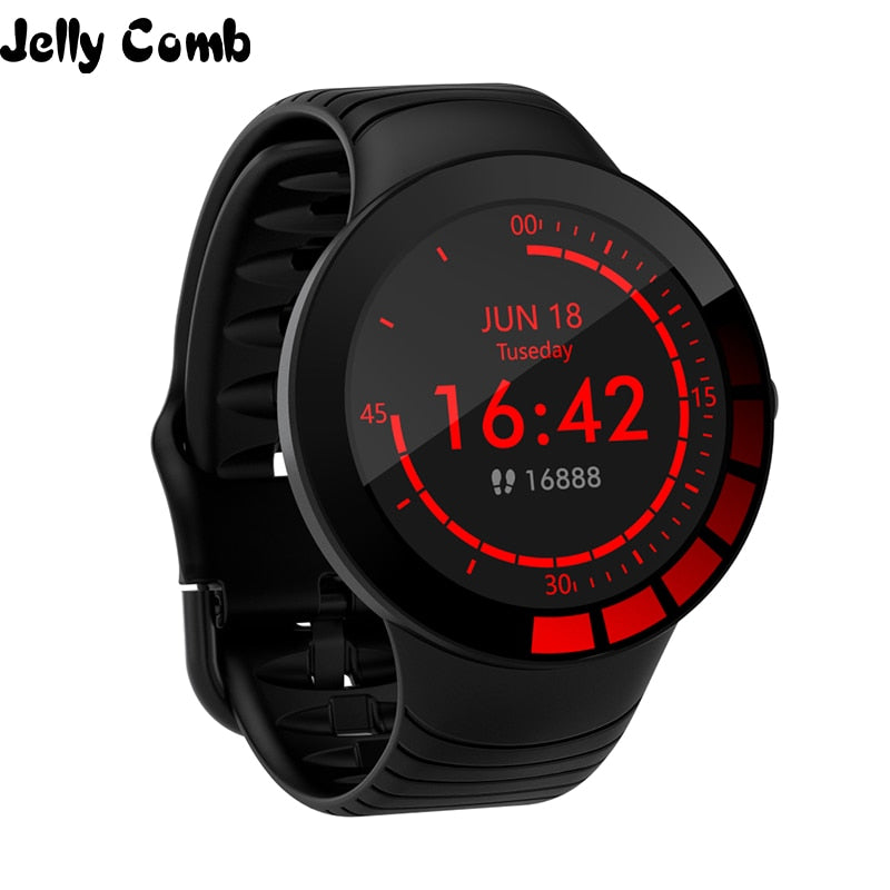Jelly Comb Men Sport Smart Watch Waterproof Heart Rate