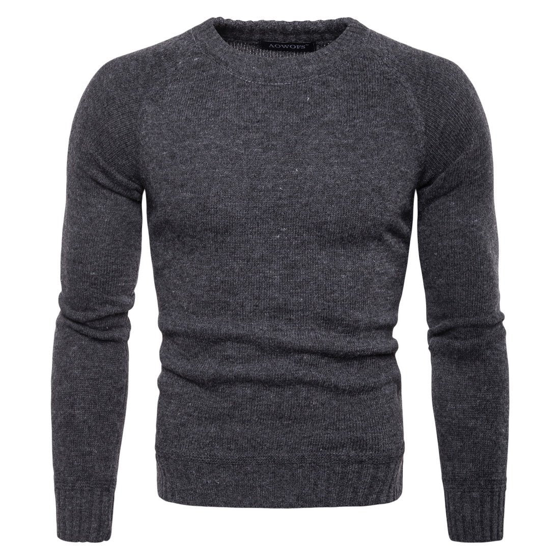 Mens casual knitted bottoming shirt
