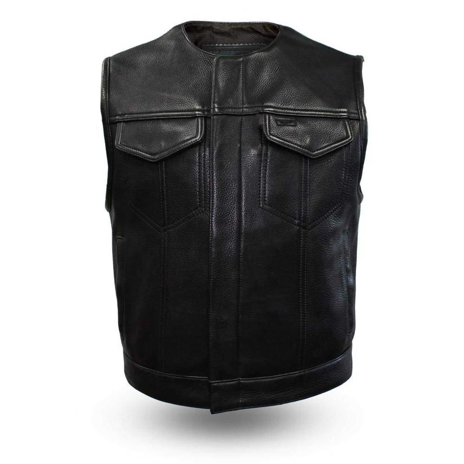 Men's fashion western leather vest