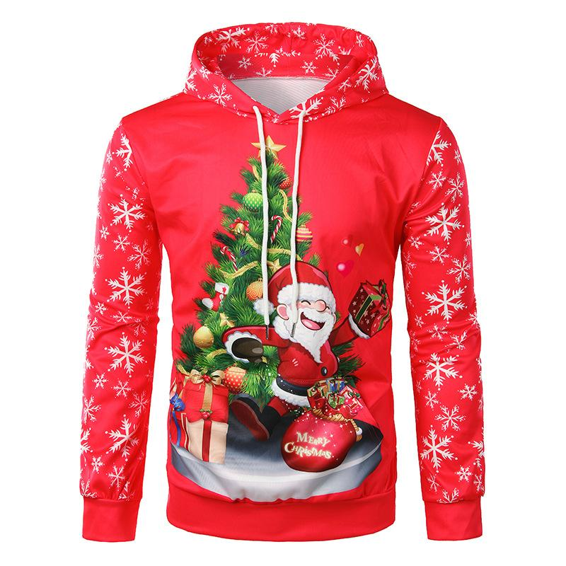 Men's Fashion Christmas 3D Print Hoodie