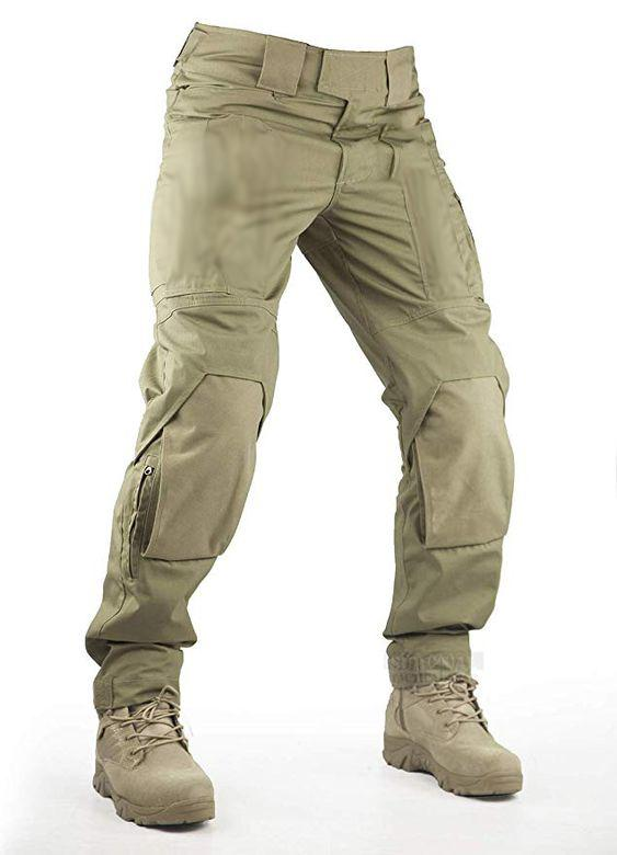 Mens Casual Large Pocket Trousers