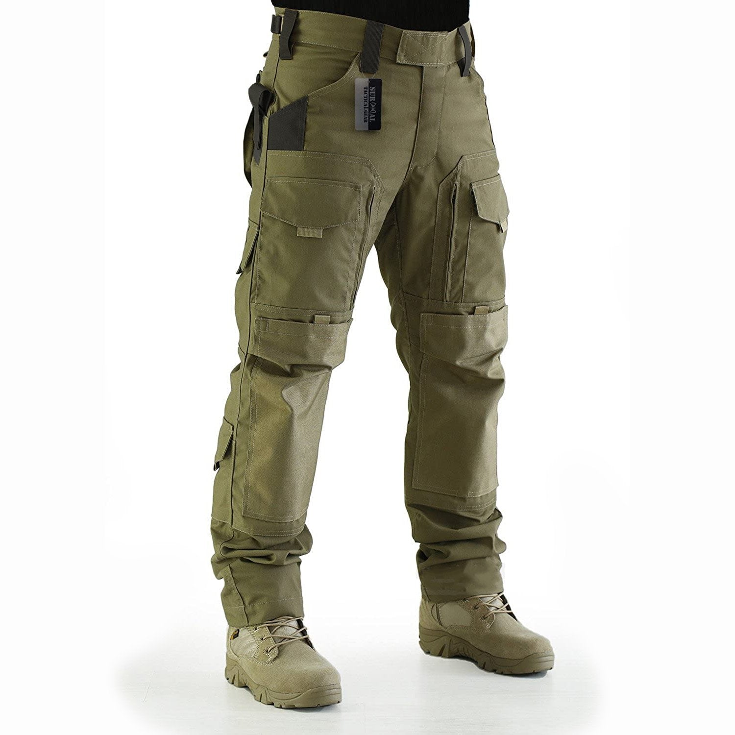 Mens Fashion Solid Color Outdoor Tactical Trousers