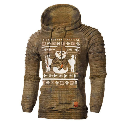 Mens outdoor Tactical Ugly hoodedChristmas