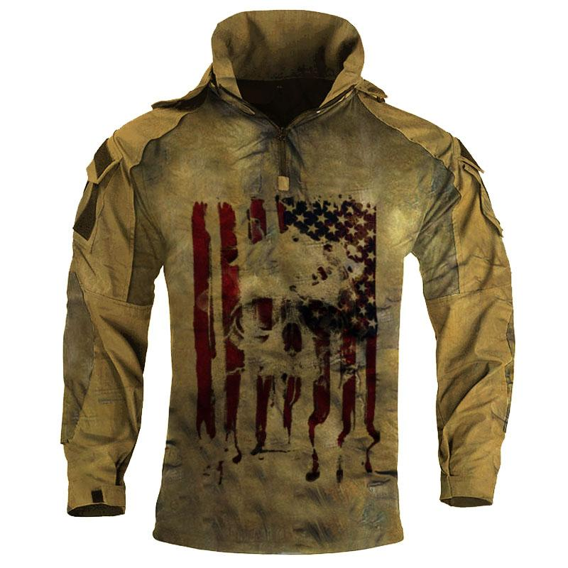 Mens outdoor camouflage long sleeve tactical suit