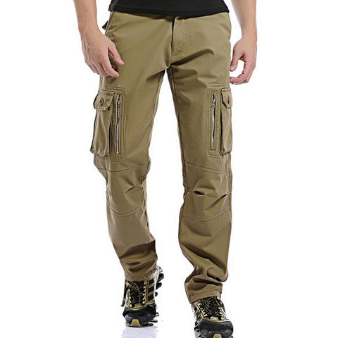 Mens large pocket outdoor casual trousers