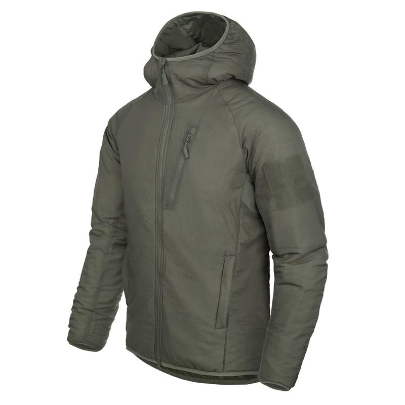 Solid color windproof tactical hooded jacket