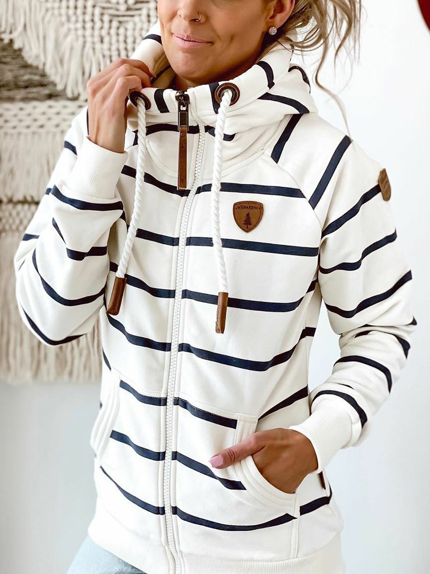 Personalized striped hoodie