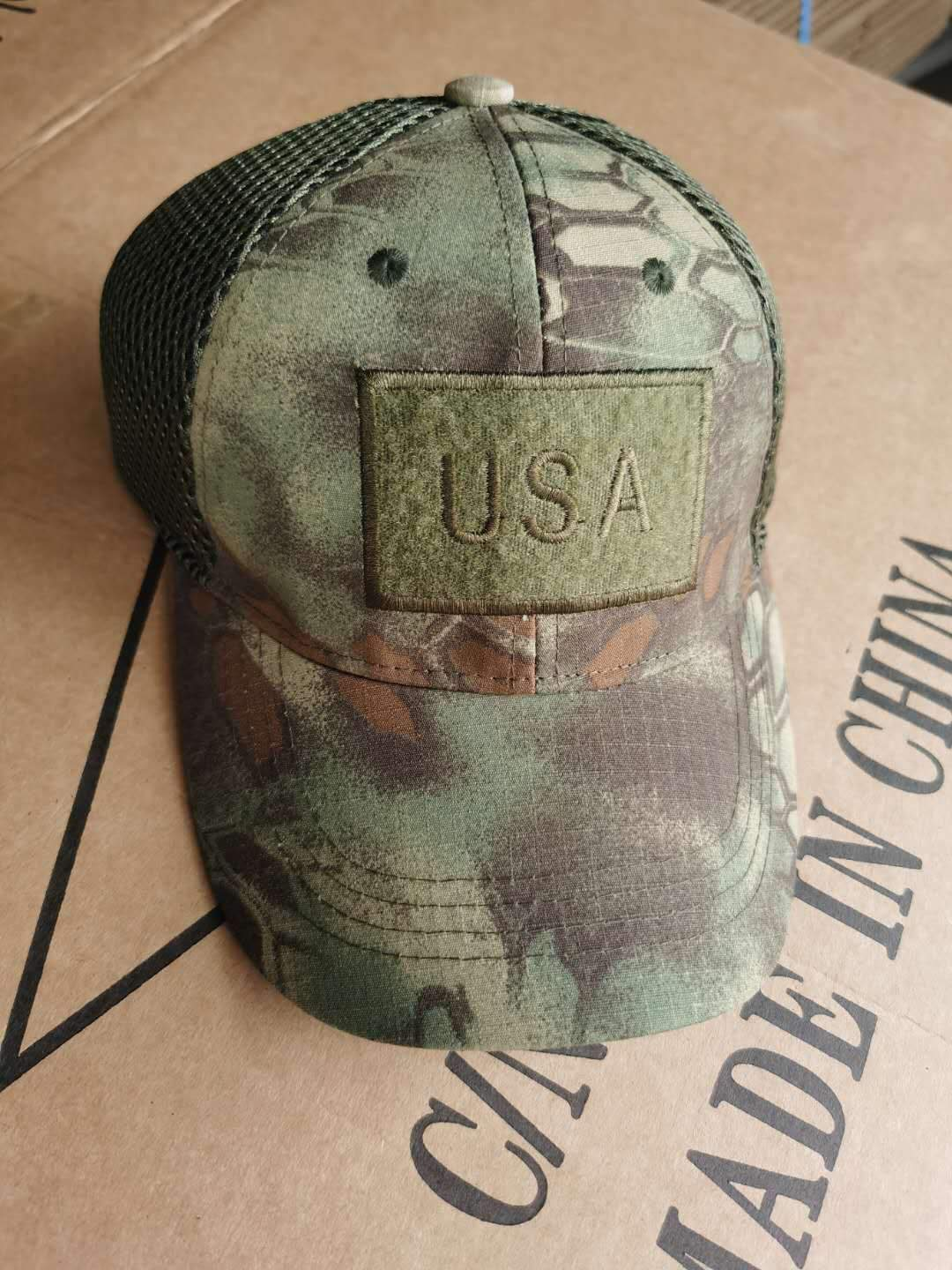 American flag camouflage baseball cap patch embroidery mesh cap men's cap cap