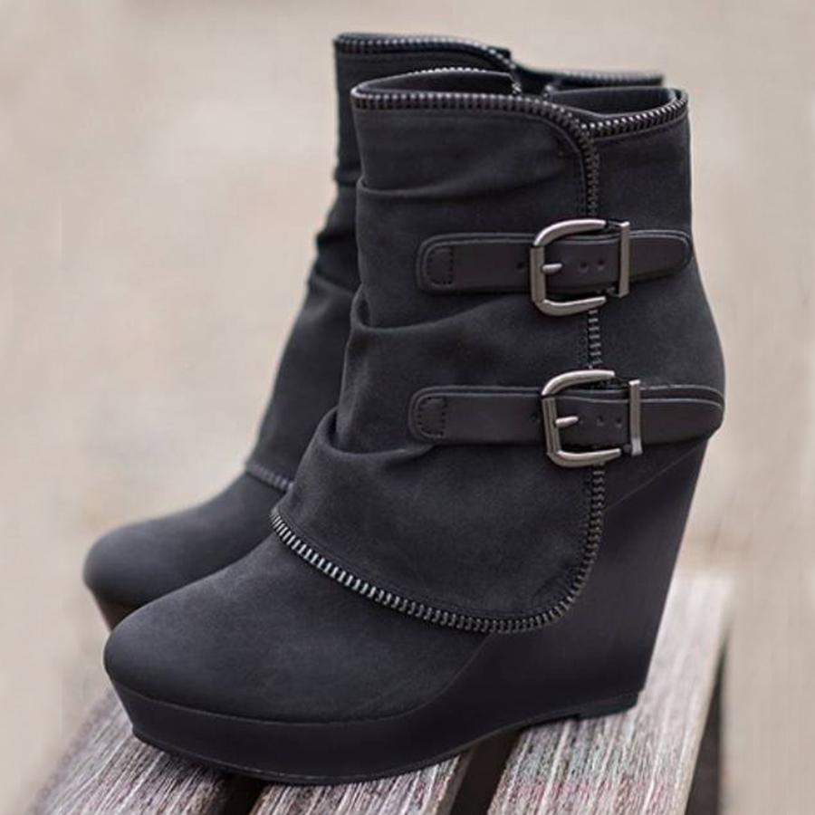 Women's Comfortable Wedges Boots