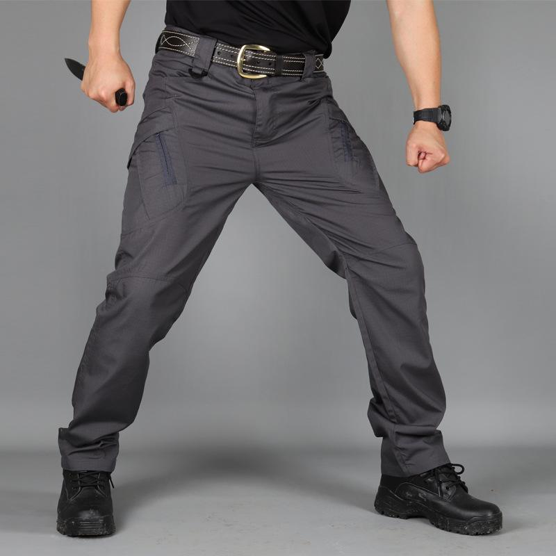 Outdoor Training Pants Military Fans Loose Multi-Bag Multi-Functional Tactical Trousers