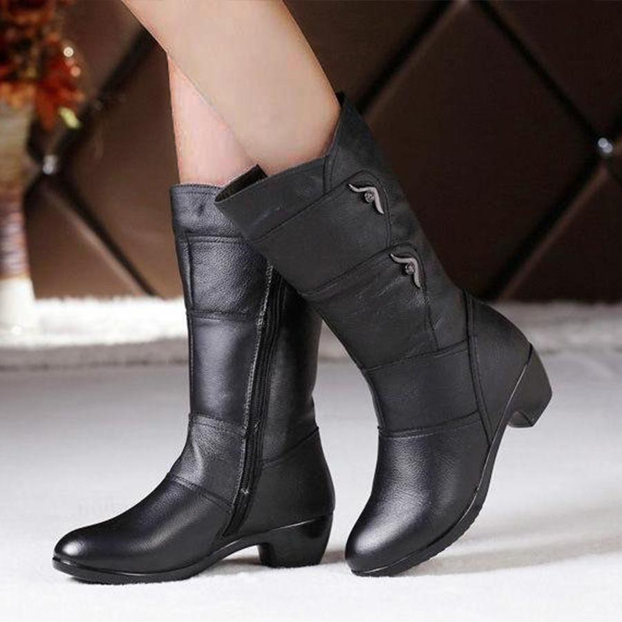 Women's Fashion Low Heel Boots