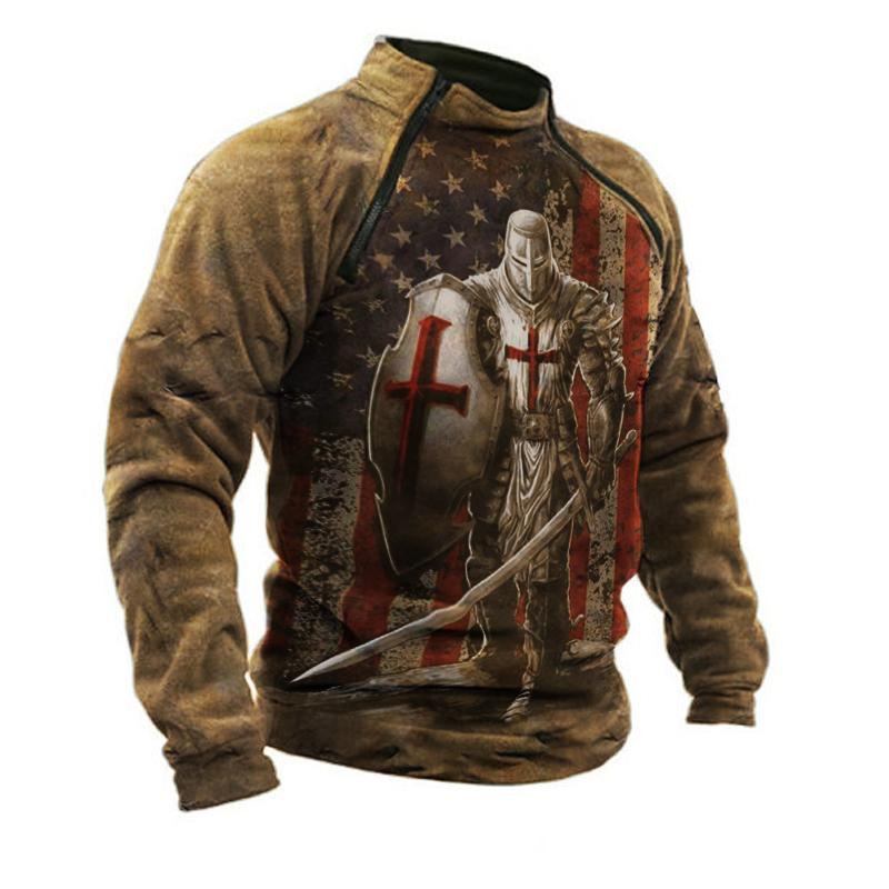 Mens Outdoor Warm And Breathable Tactical Sweatshirt