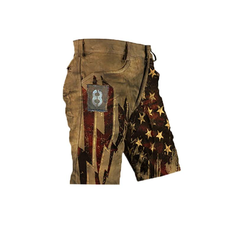 Mens outdoor camouflage print shorts