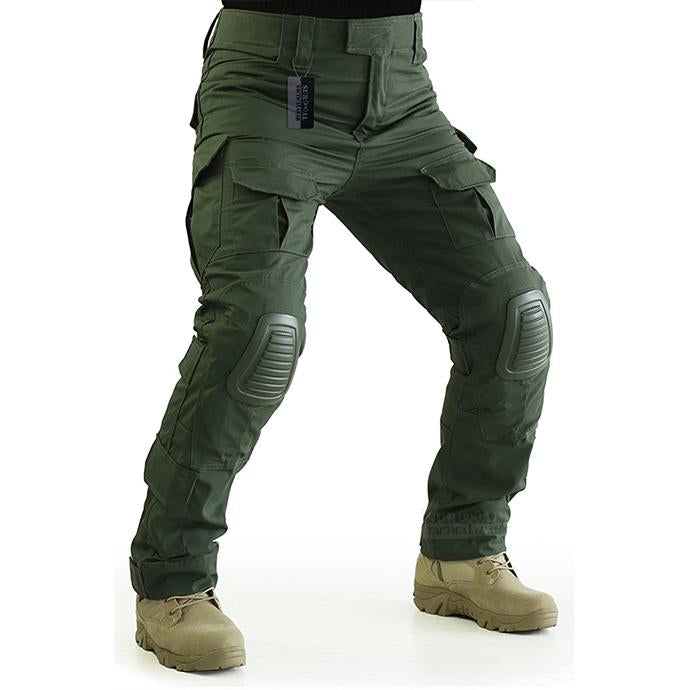 Men's fashion hiking and hunting anti-tear trousers air cushion knee pad tactical pants