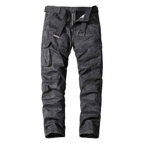 Multi-pocket camouflage casual pants