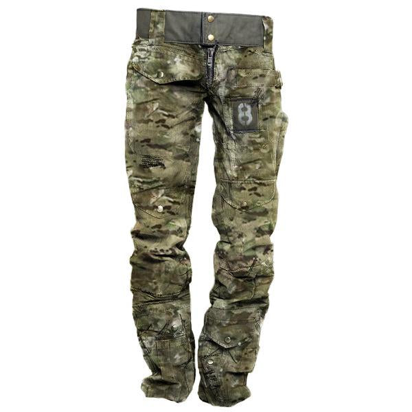 Mens Outdoor Camouflage Wear-resistant Military Trousers