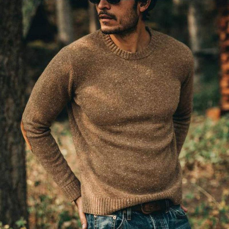 Casual solid color autumn and winter slimming mans sweater