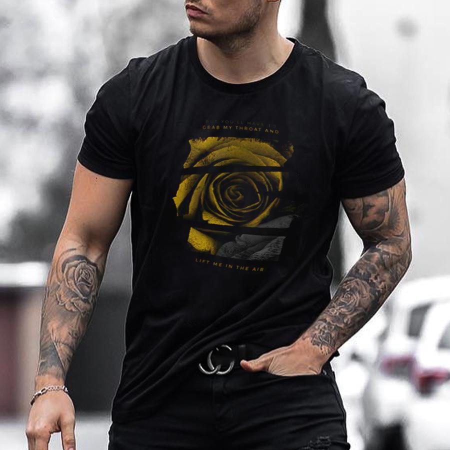 Mens fashion print short sleeve T-shirt