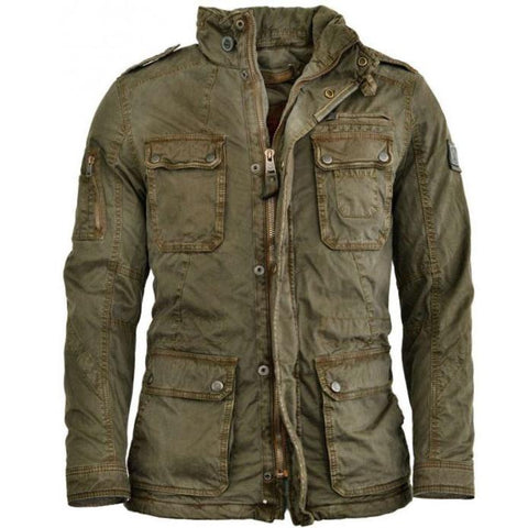 Mens Outdoor Distressed Cycling Jacket