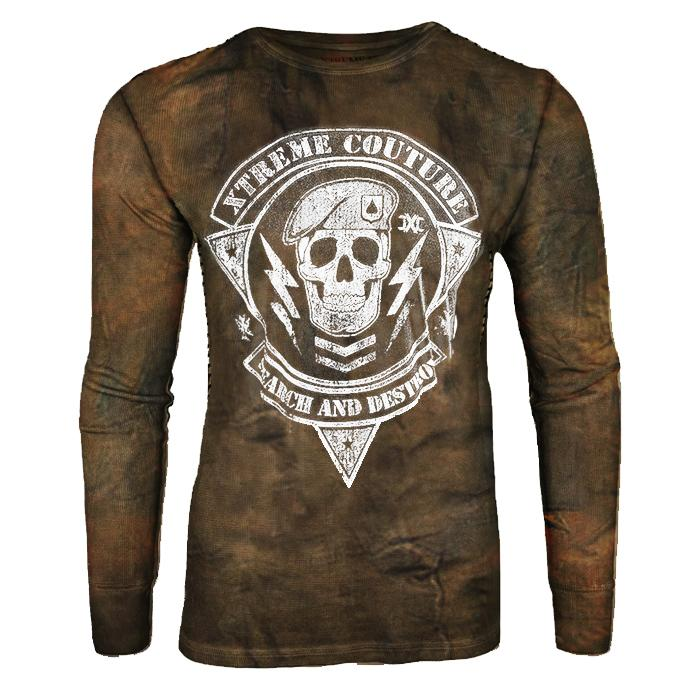 Men's Retro Offset Printing Tactical Long Sleeve Casual T-shirt