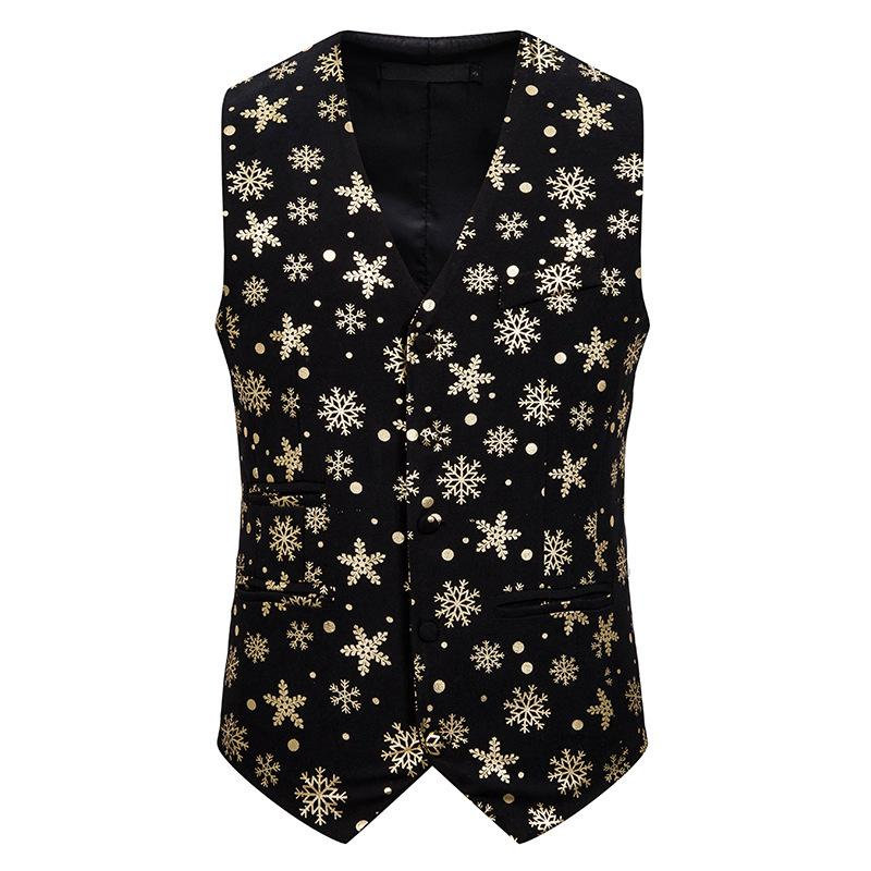 Personality holiday Christmas 3D printing men's vest