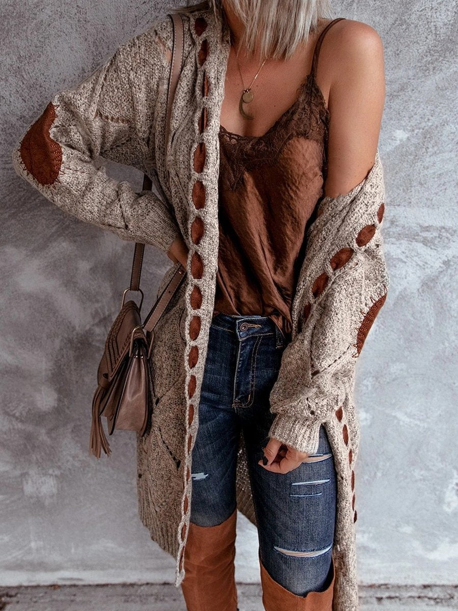 Casual Long-Sleeved Sweater Cardigan