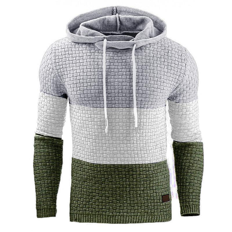 Men's Casual Splicing Long Sleeve Hoodie