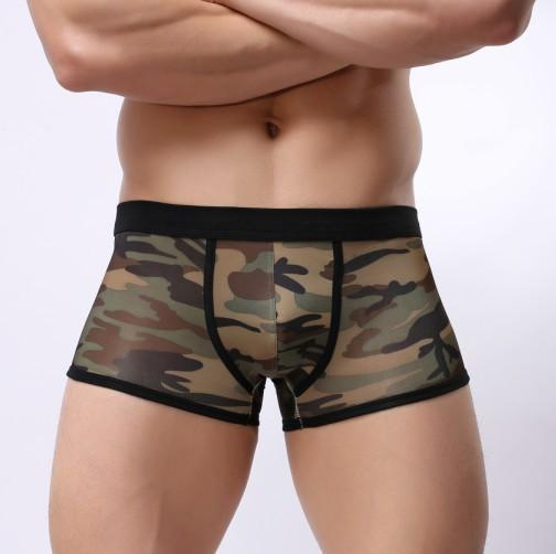 Mens underwear boxer briefs camouflage big boxer Mens unde