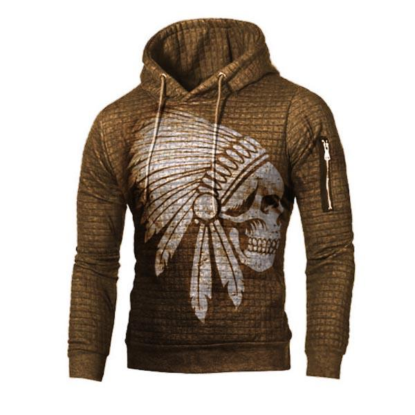 Mens outdoor sports fitness hooded sweater