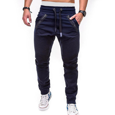 Casual Loose Pleated Elastic Waist Pants