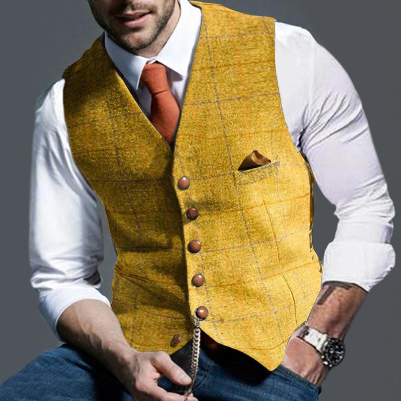 Men's Fashion Formal Plaid vest