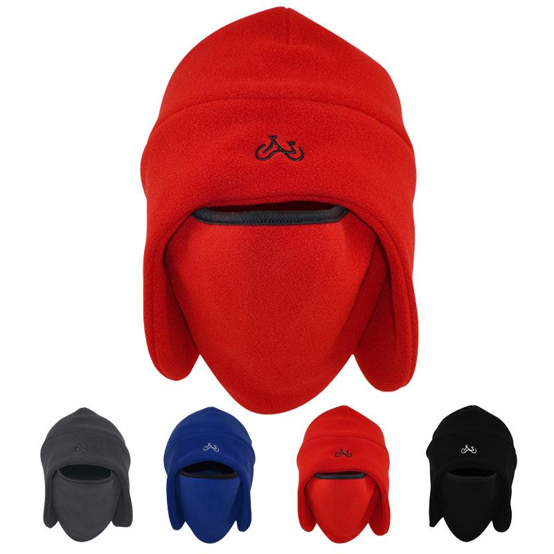 Men's outdoor thickening cycling women's windproof and cold-proof riding winter fleece ear caps Baotou cap