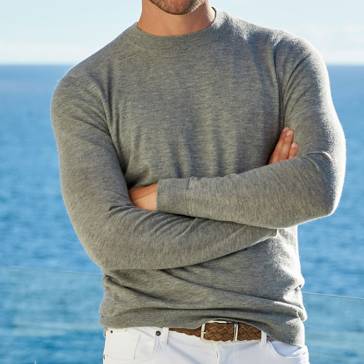 Parker cashmere crew neck sweater