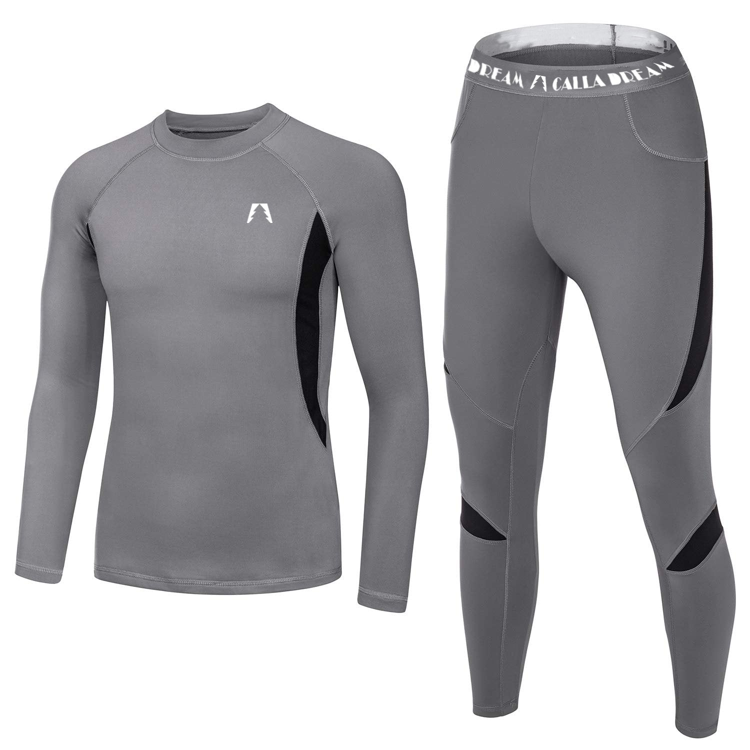 New men's outdoor fleece thermal sports underwear set quick-dry, tight, sweat-sucking sports cycling suit