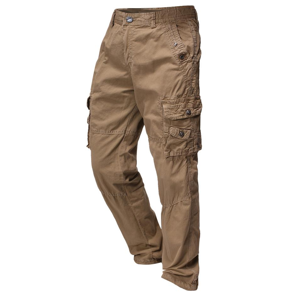 Men's Outdoor Large Pocket Pleated Zipper Trousers
