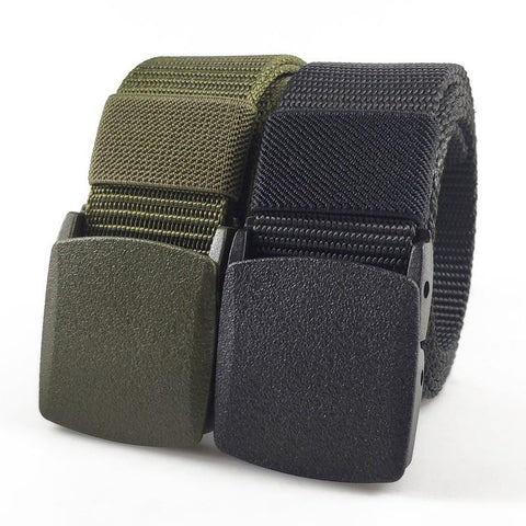 Plastic buckle nylon tactical belt men's outdoor quick-drying durable hypoallergenic canvas military training belt