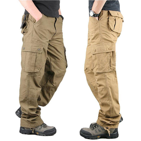 Mens Straight Mens Military Casual Pants