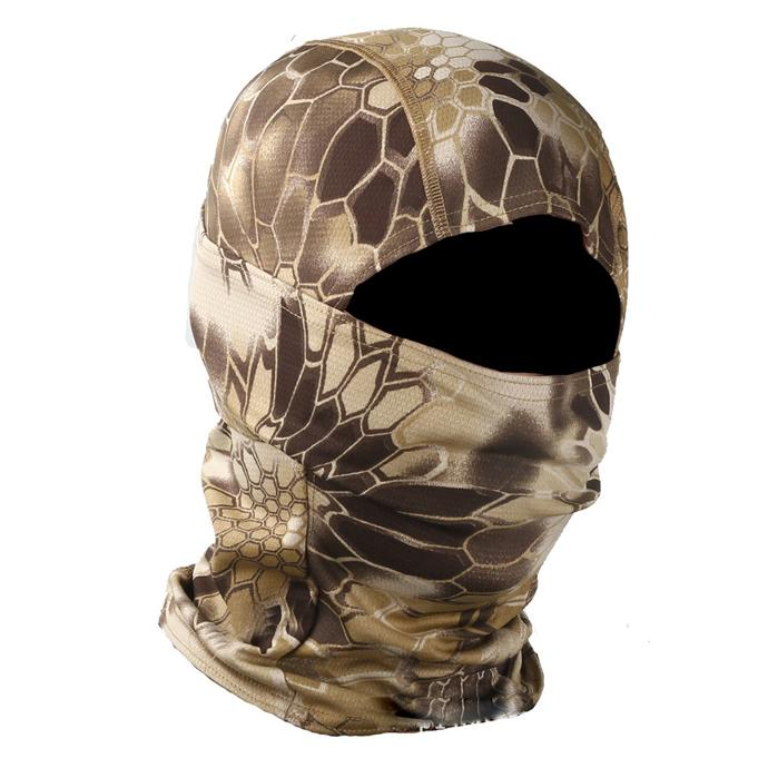 Python pattern tactical headgear mask outdoor sunscreen windproof sand camouflage warm rattlesnake ninja headscarf