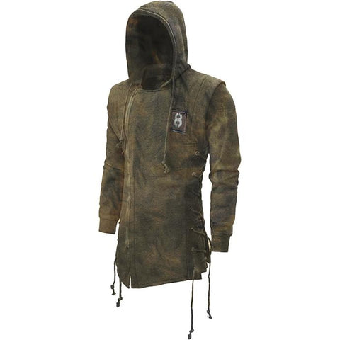 Men's retro print outdoor tactical hoodie sweatshirt