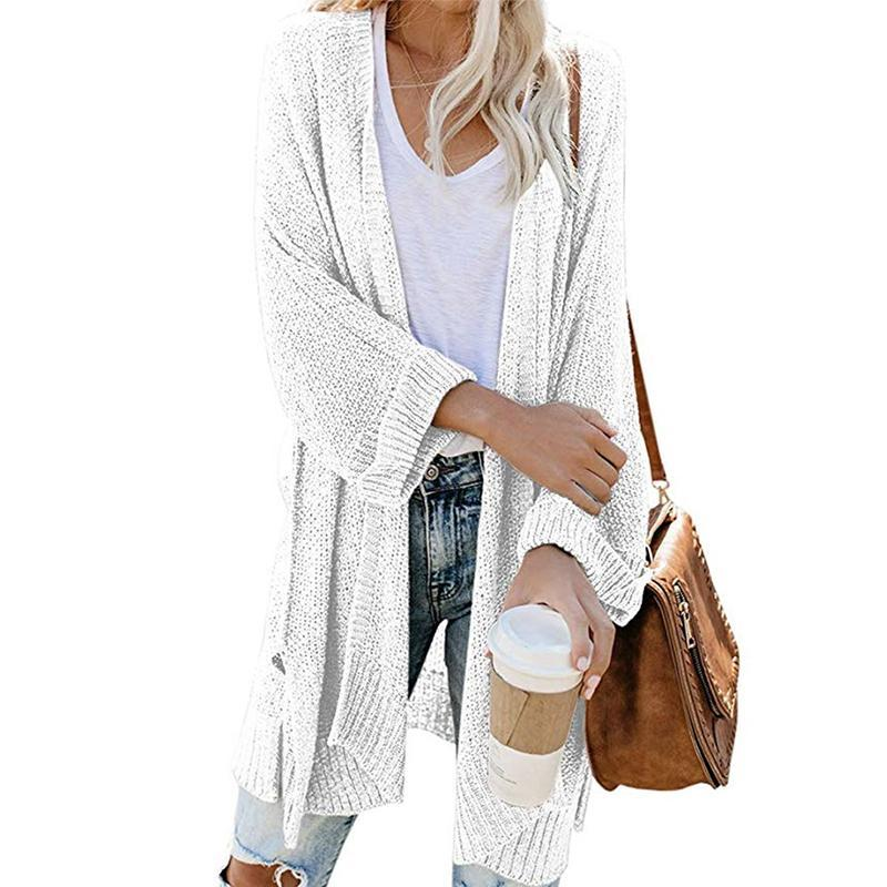 Casual Long Sleeve Solid Colour Loose Sweater