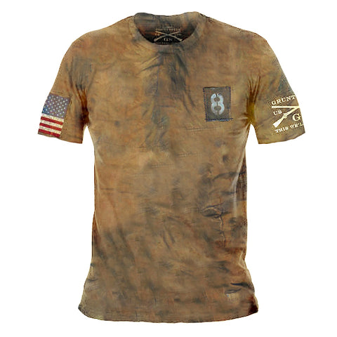 Mens retro print casual t-shirt