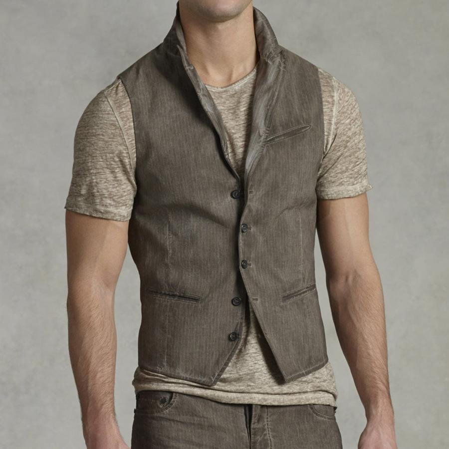 Mens Vintage Single Breasted Vest