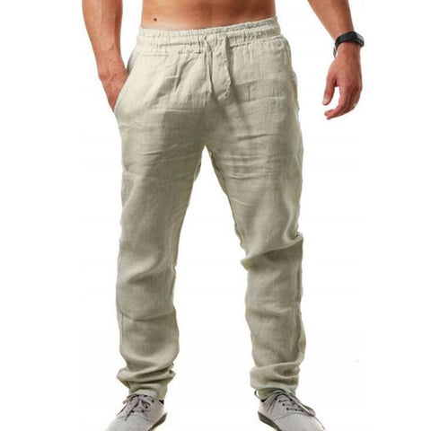 Solid Color Loose Breathable Casual Pants
