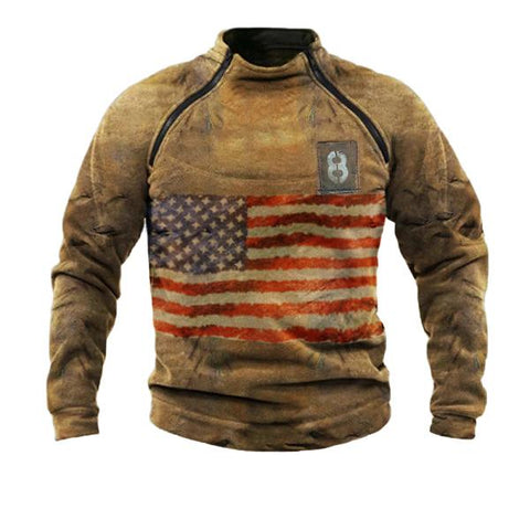 Men's Casual Splicing Long Sleeve Sweatshirt