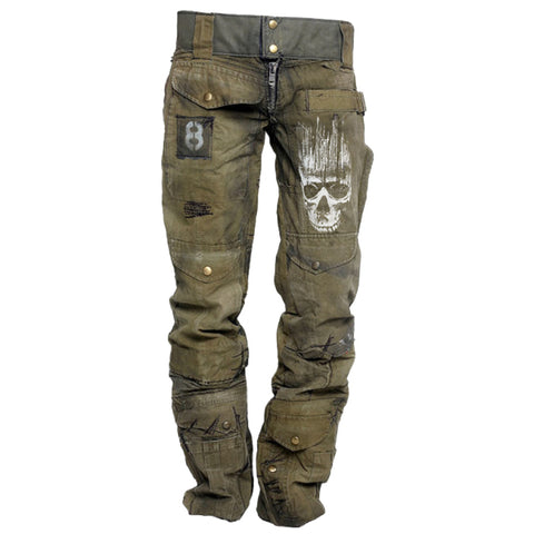 Mens Outdoor Zombie Wear-resistant Military Trousers
