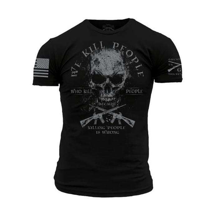 Men's printed outdoor tactical casual T-shirt