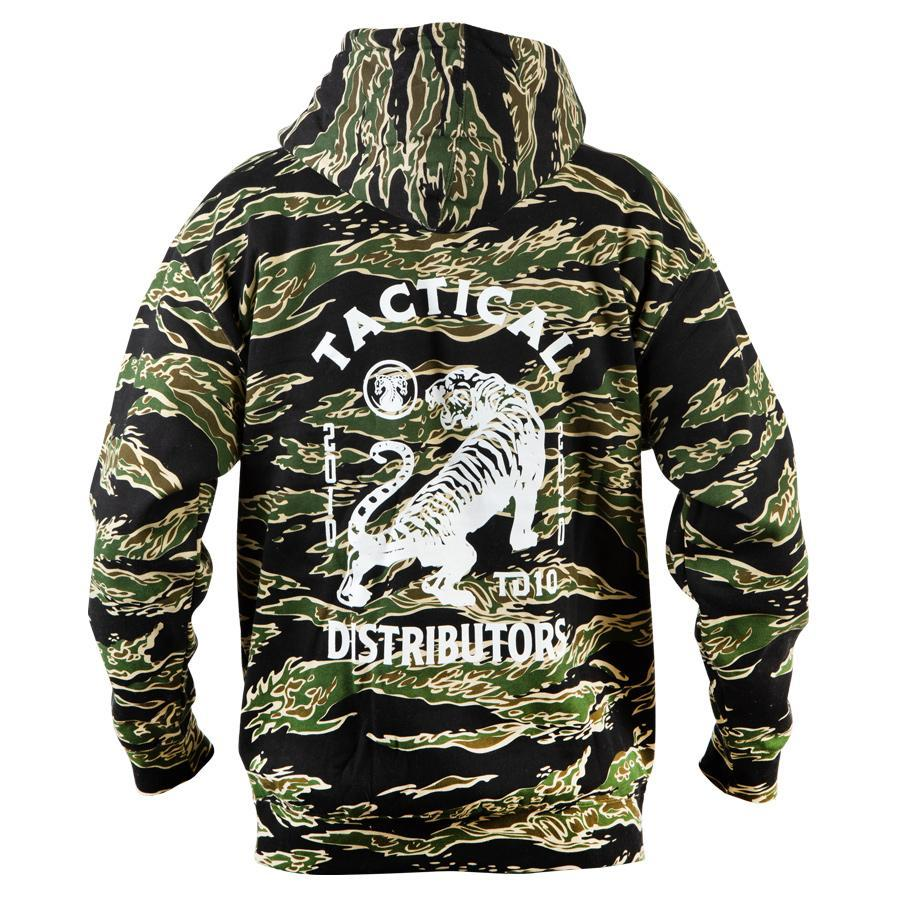 Mens Outdoor Camouflage Print Hooded Tactical Top