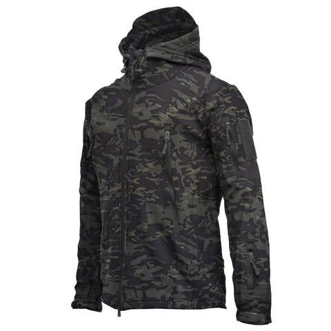 Autumn And Winter Outdoor Soft Shell Waterproof Warm Jacket