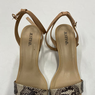 Primary Photo - BRAND: JUST FAB STYLE: SANDALS LOW COLOR: SNAKESKIN PRINT SIZE: 9 SKU: 200-200178-22425