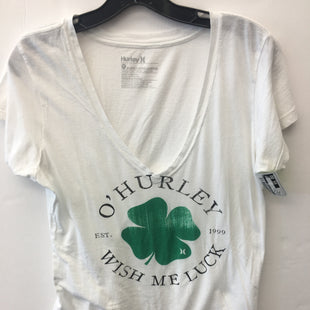 Primary Photo - BRAND:    CLOTHES MENTOR STYLE: TOP SHORT SLEEVE COLOR: WHITE GREEN SIZE: XL OTHER INFO: HURLEY - SKU: 200-200202-6173
